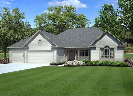 Country Ranch Southern Traditional Elevation of Plan 10839