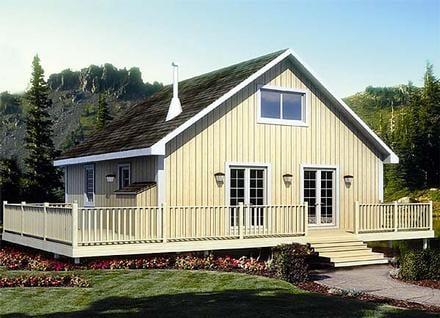 Cabin Cottage Elevation of Plan 20000