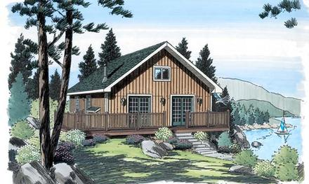 Cabin Cottage Traditional Elevation of Plan 20004
