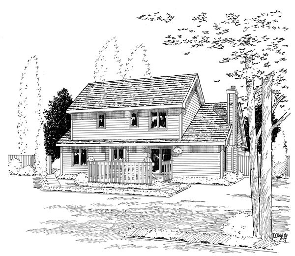 Traditional House Plan 20134 Rear Elevation