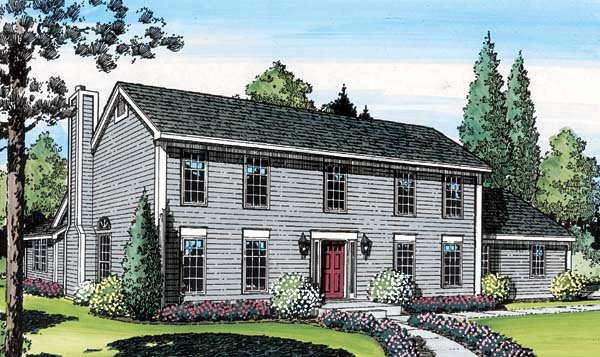 House plan 20136 at for Salt box house plans