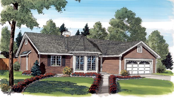 Ranch Traditional Victorian House Plan 20139 Elevation