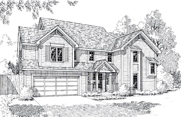 Contemporary Traditional House Plan 20152 Elevation