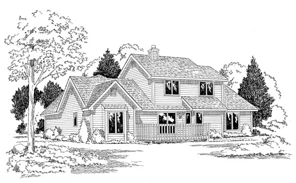 Country Traditional House Plan 20160 Rear Elevation