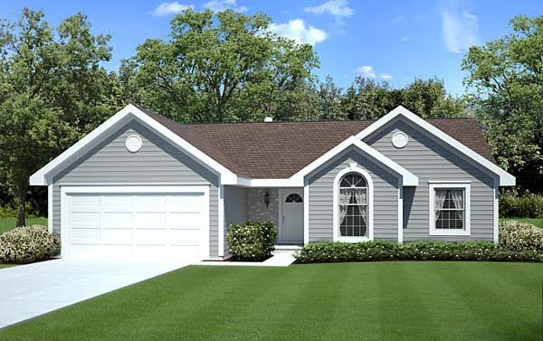 Ranch Traditional House Plan 20164 Elevation