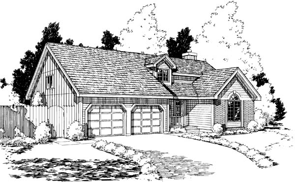 Traditional House Plan 20171 with 3 Beds, 3 Baths, 2 Car Garage Elevation