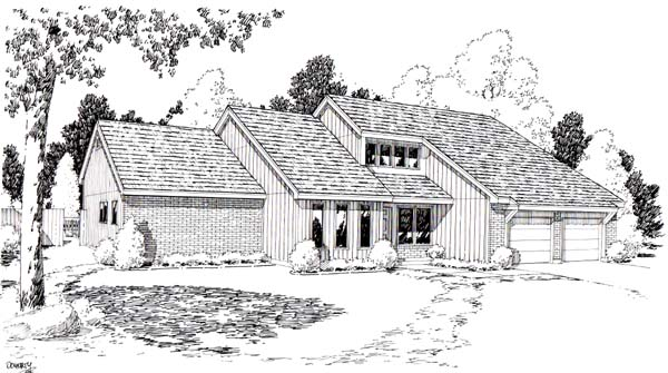 Contemporary House Plan 20175 Elevation