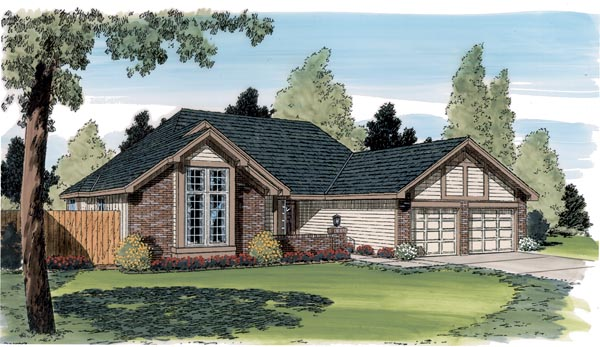 Contemporary Traditional House Plan 20182 Elevation