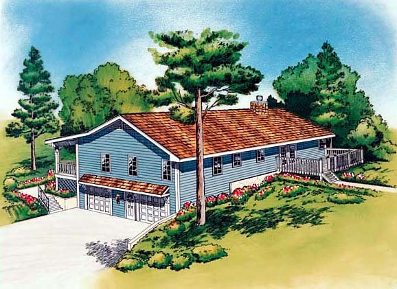 Country Traditional House Plan 20198 Rear Elevation
