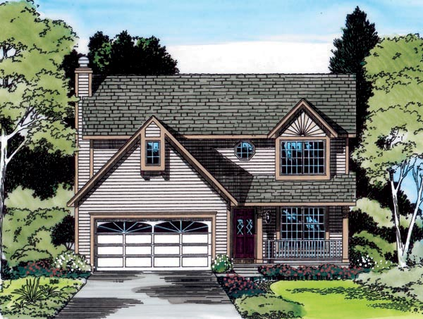 Bungalow, Country, Traditional House Plan 20219 with 4 Beds, 3 Baths, 2 Car Garage Elevation