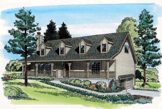 Country House Plan 20222 Elevation