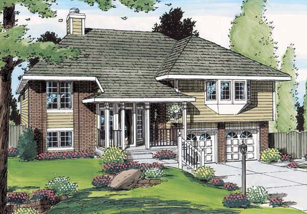 Traditional House Plan 20224 with 3 Beds, 2 Baths, 2 Car Garage Elevation