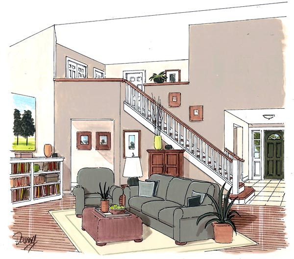 Traditional House Plan 20230 with 4 Beds, 3 Baths, 2 Car Garage Picture 1