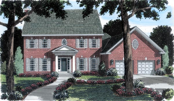 Colonial House Plan 20233 Elevation