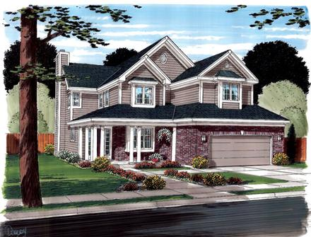 Contemporary Traditional Elevation of Plan 20235