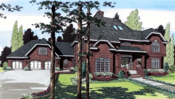 European Traditional House Plan 20358 Elevation