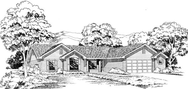 Ranch Traditional House Plan 20402 Elevation
