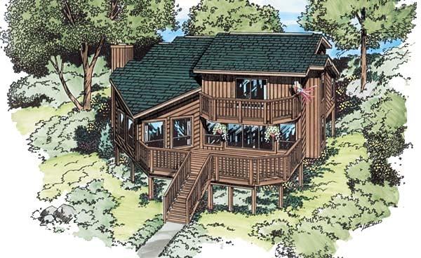 Coastal Contemporary House Plan 20501 Elevation