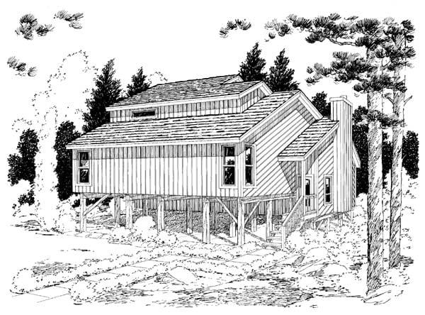 Coastal Contemporary House Plan 20501 Rear Elevation