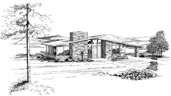 Contemporary Retro House Plan 21122 Elevation