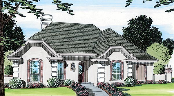 European, One-Story, Ranch, Traditional House Plan 22004 with 4 Beds, 3 Baths, 2 Car Garage Elevation