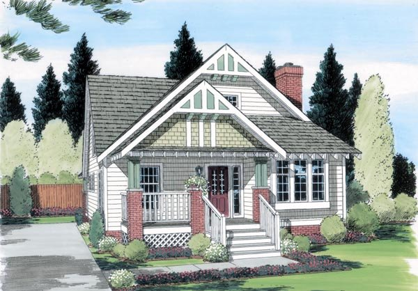 Bungalow Craftsman House Plan 24242 Elevation