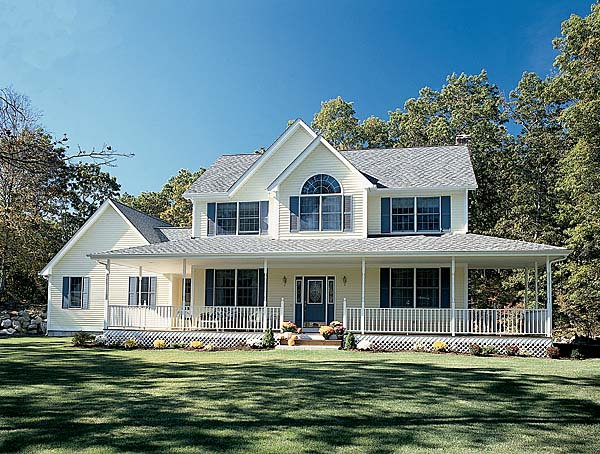 Country Farmhouse Southern House Plan 24245 Elevation