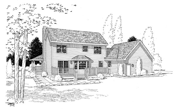 Country Farmhouse Southern House Plan 24245 Rear Elevation