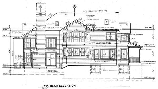 Country Farmhouse Traditional House Plan 24255 Rear Elevation