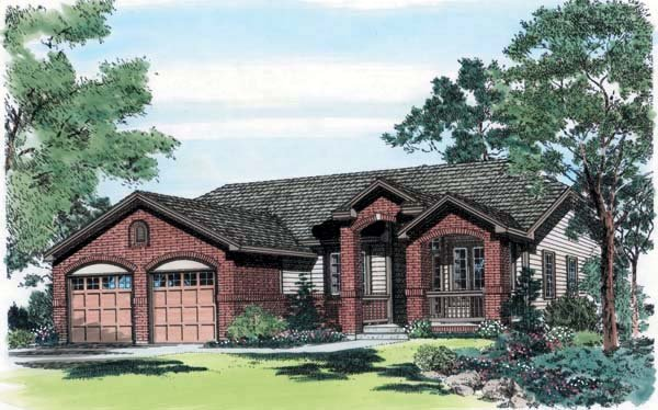 Traditional House Plan 24256 Elevation