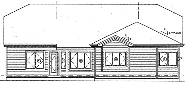 Traditional House Plan 24256 Rear Elevation