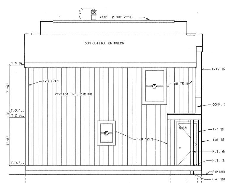 Contemporary Retro House Plan 24313 Rear Elevation
