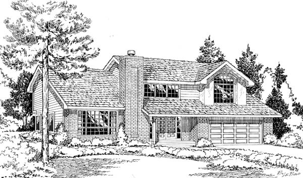 Traditional House Plan 24315 Elevation