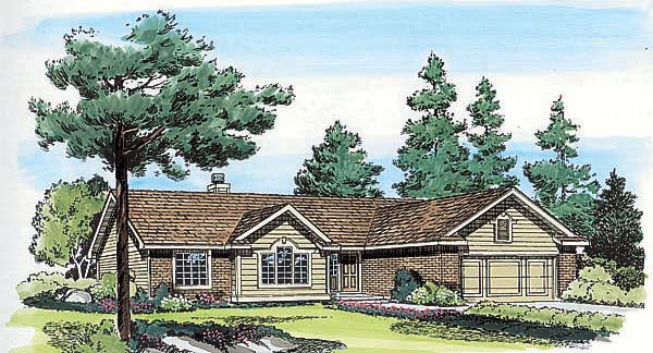 Ranch Traditional House Plan 24320 Elevation