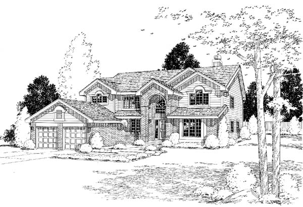 Traditional House Plan 24322 Elevation