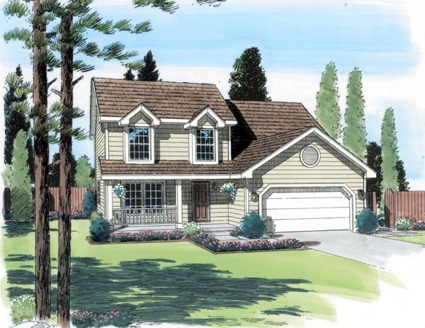 Country Traditional House Plan 24326 Elevation
