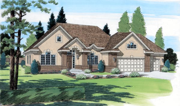 Traditional House Plan 24557 Elevation