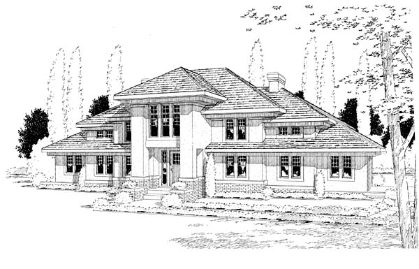 Florida, Mediterranean, Southwest House Plan 24562 with 4 Beds, 3 Baths, 2 Car Garage Elevation