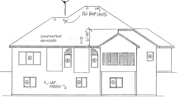 European Ranch Traditional House Plan 24588 Rear Elevation