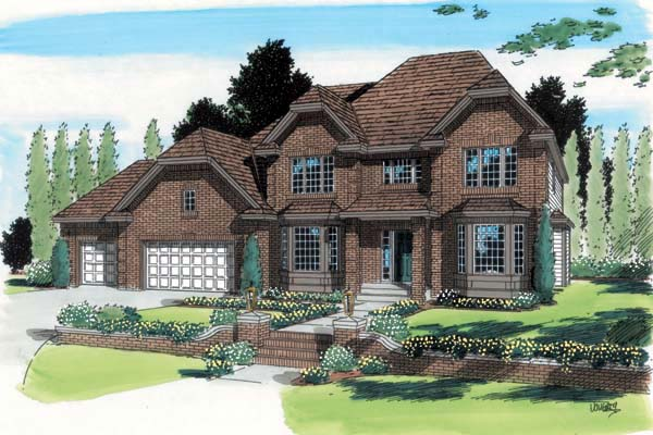 European House Plan 24591 Elevation