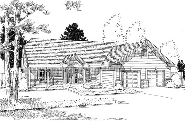 Country Ranch House Plan 24592 Elevation