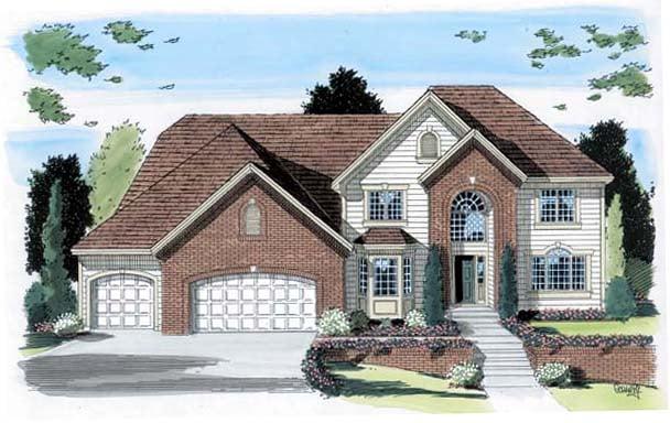 European Traditional House Plan 24593 Elevation