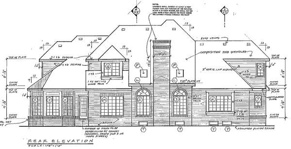 European Traditional House Plan 24613 Rear Elevation