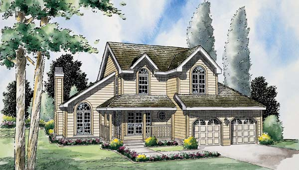 Country Traditional House Plan 24654 Elevation