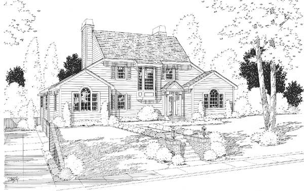 Country Traditional House Plan 24662 Elevation