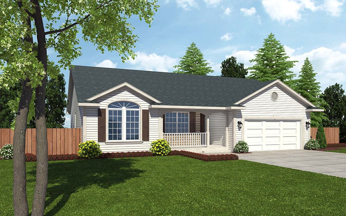 Cottage Country Ranch Traditional House Plan 24700 Elevation