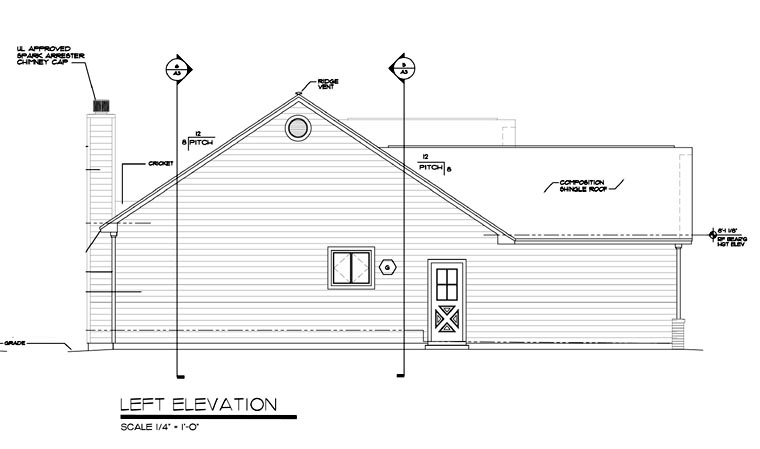 One-Story, Ranch, Traditional House Plan 24701 with 3 Beds, 2 Baths, 2 Car Garage Picture 2