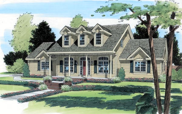 Cape Cod Country House Plan 24703 Elevation