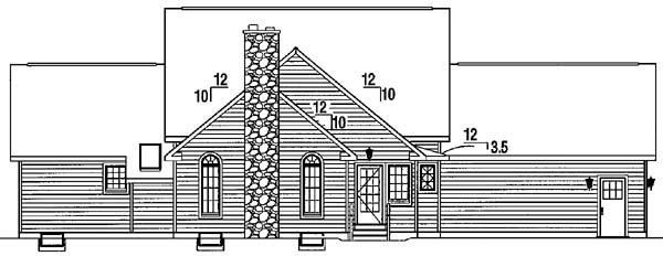 Cape Cod Country House Plan 24703 Rear Elevation
