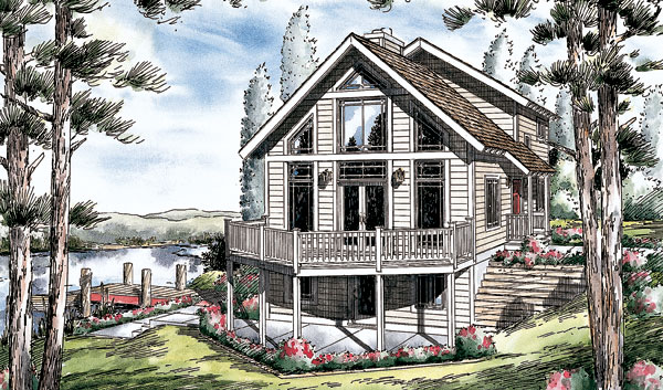 Vacation House Plan 24704